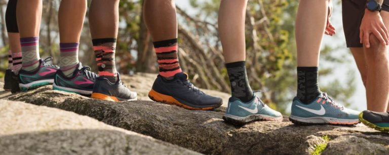 trail-running-shoes-on-rock